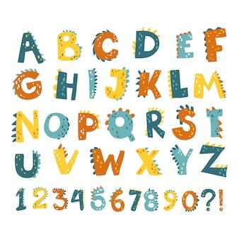 Números del alfabeto dino