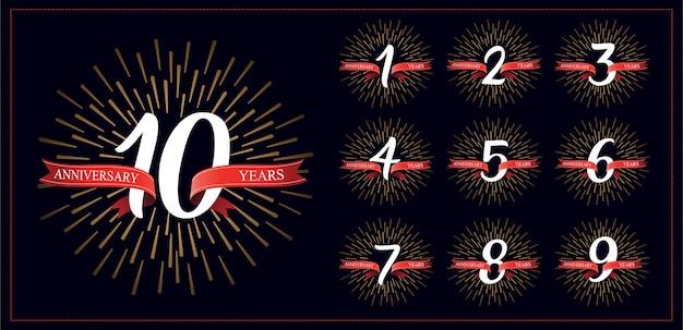 Números de aniversario y fuegos artificiales