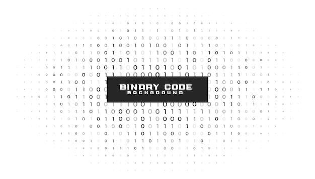 Números de código binario fondo blanco