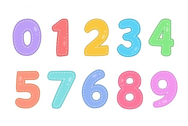 Números divertidos lindos establecidos