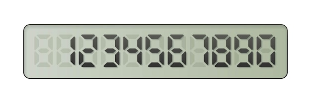 Números electrónicos del uno al cero en pantalla digital
