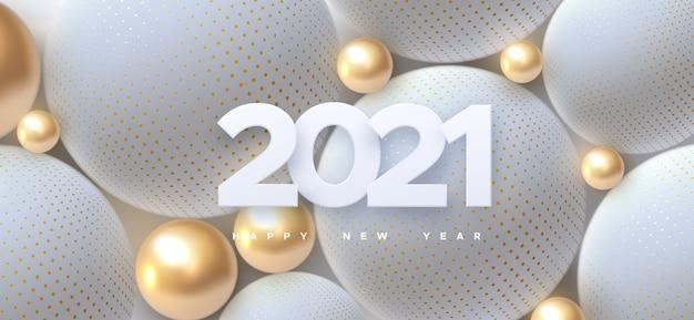 Números elegantes 2021 para ilustración de año nuevo