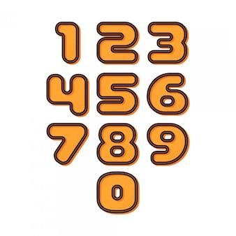 Números estéreo retro
