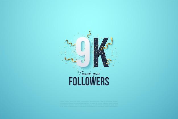 Números y festividad para agradecer a los seguidores de 9k