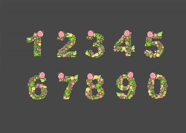 Números florales