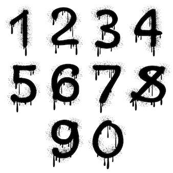 Números de graffiti de grunge