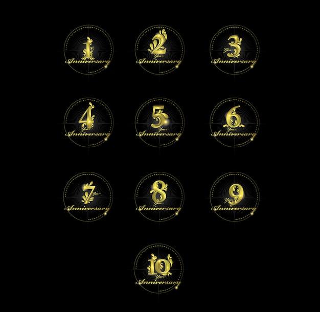 Números de oro de aniversario