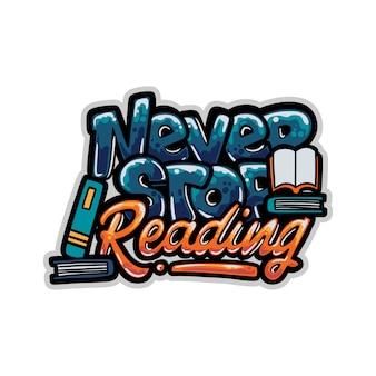 Nunca dejes de leer la ilustración de graffiti