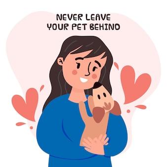 Nunca dejes a tu mascota atrás