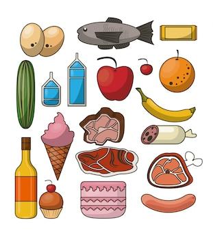 Nutrición y comida naranja infografía