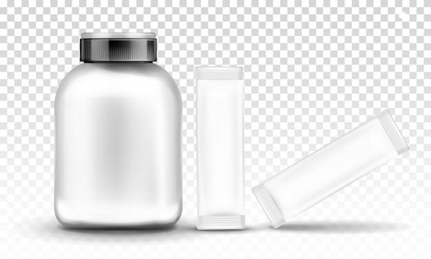 Nutrición deportiva, envase contenedor de suplemento.