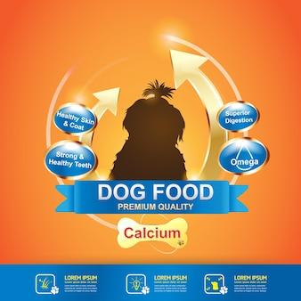 Nutrición para vector de producto de alimentos para mascotas