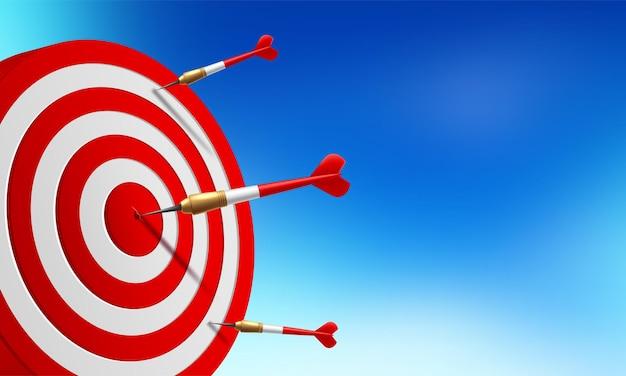 Objetivo alcanzado en el centro por flechas