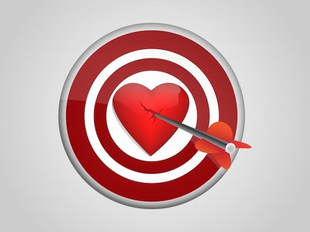 Objetivo con el corazón en el centro