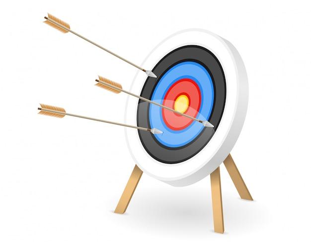 Objetivo para disparar arco de flecha