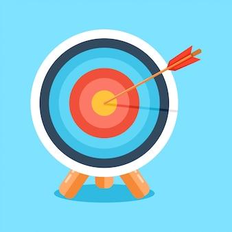 Objetivo con la flecha. ilustración vectorial