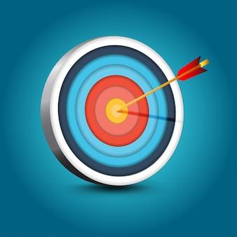 Objetivo realista con flecha