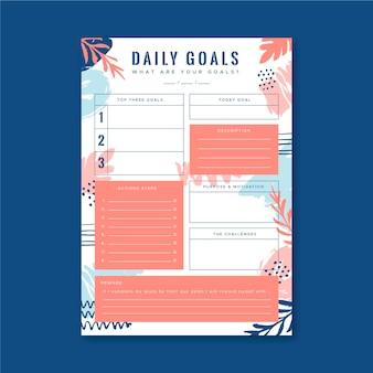 Objetivos diarios