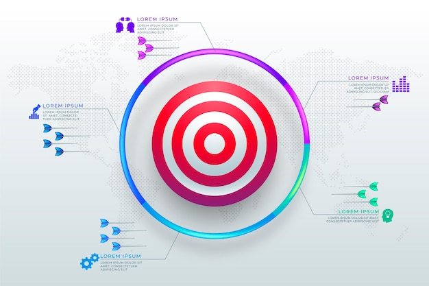 Objetivos gráficos con diferentes elementos.