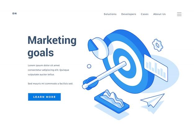 Los objetivos modernos de marketing publicitario de banner web persiguen