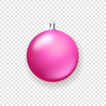 Objeto de adorno navideño de cristal rosa