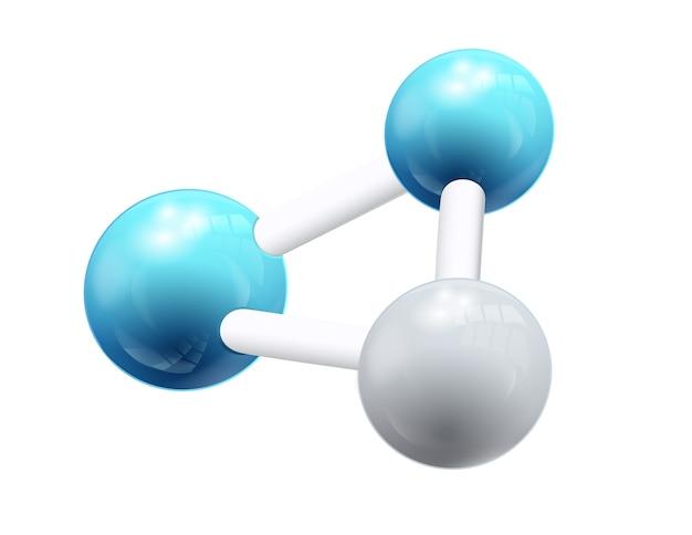 Objeto de fórmula química estructural 3d