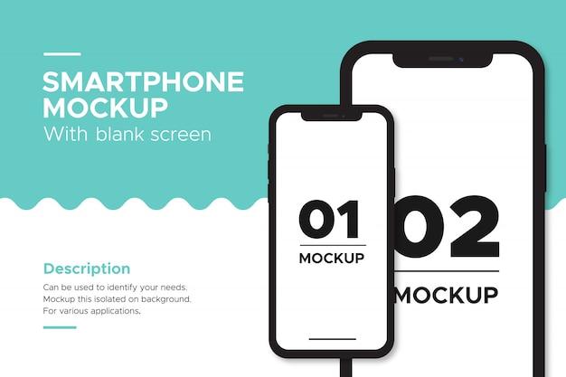 Objeto de maqueta de banner de iphone aislado sobre fondo.