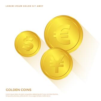 Objeto de moneda de oro