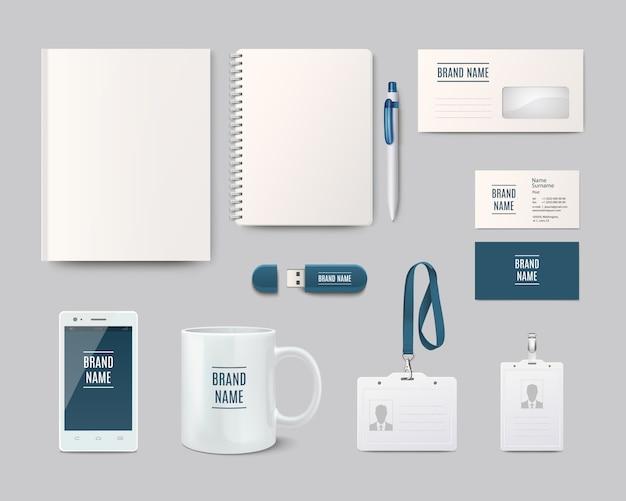 Objetos para identidad corporativa
