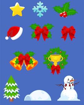 Objetos de juego de navidad