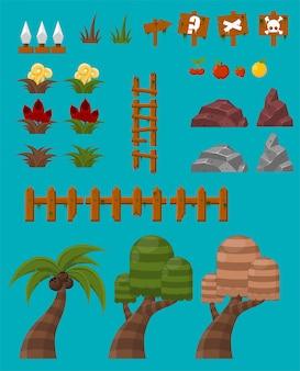 Objetos de juego de la selva