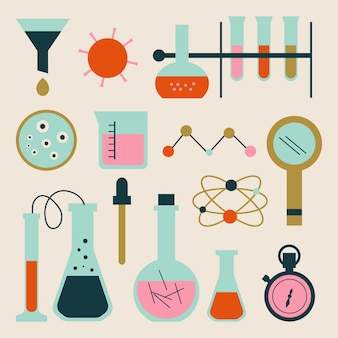 Objetos de laboratorio de ciencias