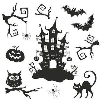 Objetos vectoriales de halloween