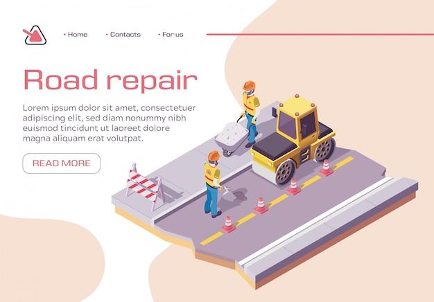 Obras viales y pavimentación de asfalto. maquinaria pesada de asfalto