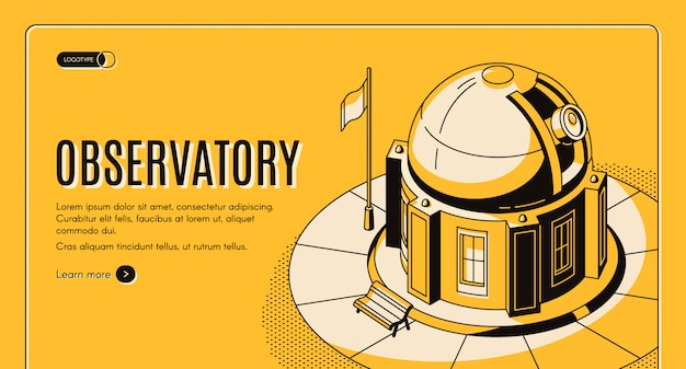 Observatorio terrestre para observaciones astronómicas.