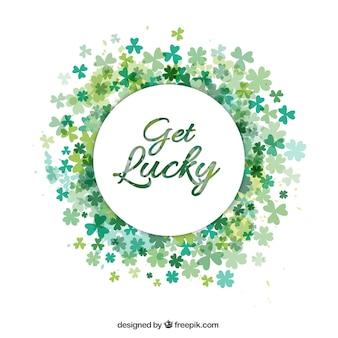 Obtén suerte letras con un marco de tréboles