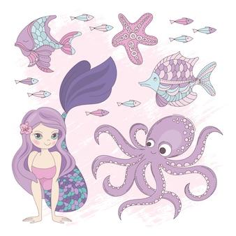 Ocean mermaid princess summer cruise