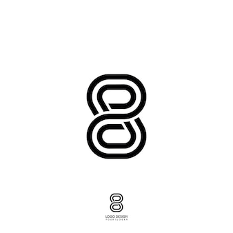 Ocho número line art logo