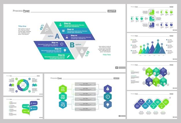Ocho plantillas de diapositivas de marketing establecidas
