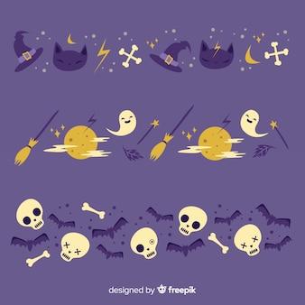 Ocultista y noche de luna llena frontera de halloween