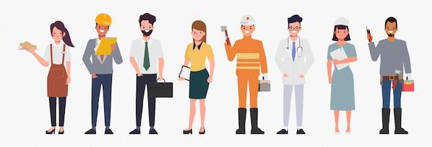Ocupación trabajo carácter personas diseño plano.