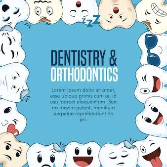 Odontologia medicina cuidado de la salud con equipo de higiene
