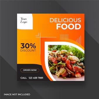 Oferta de alimentos banners de redes sociales