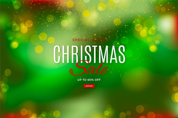 Oferta especial borrosa venta de navidad