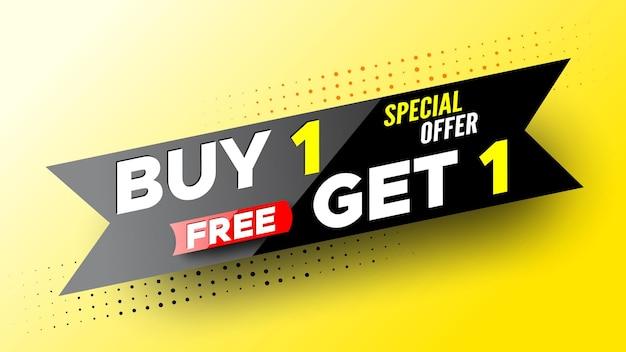 Oferta especial compra, banner de venta gratis.