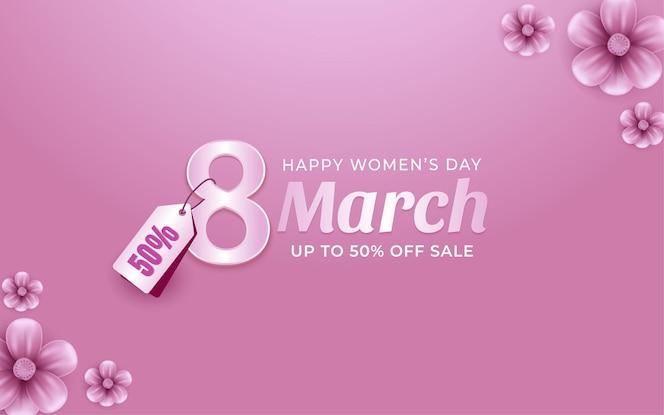Oferta especial del día de la mujer del 8 de marzo