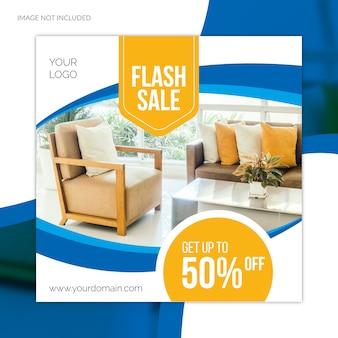 Oferta especial de gran venta de muebles de redes sociales plantilla de banner web