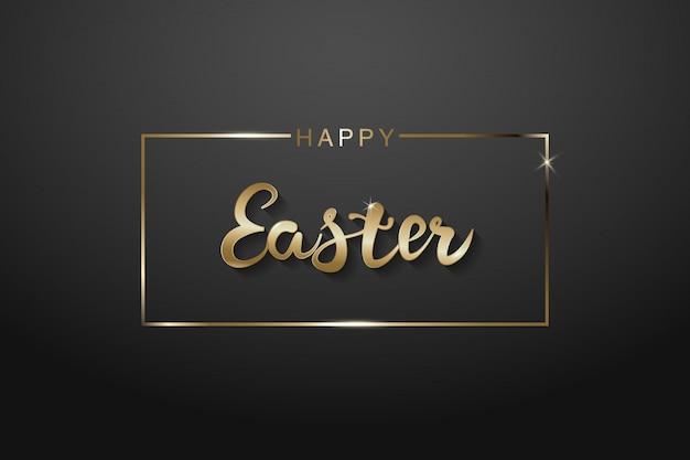 Oferta especial de semana santa banner con huevo de pascua dorado