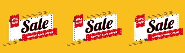 Oferta especial de venta y diseño de etiquetas de precios premium vector