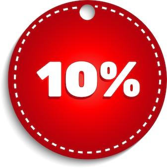 Oferta especial venta etiqueta roja símbolo de precio de oferta de descuento de vector aislado